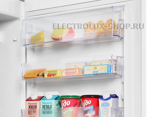 Дверные полки двухкамерного холодильника Electrolux EN 3854 NOW
