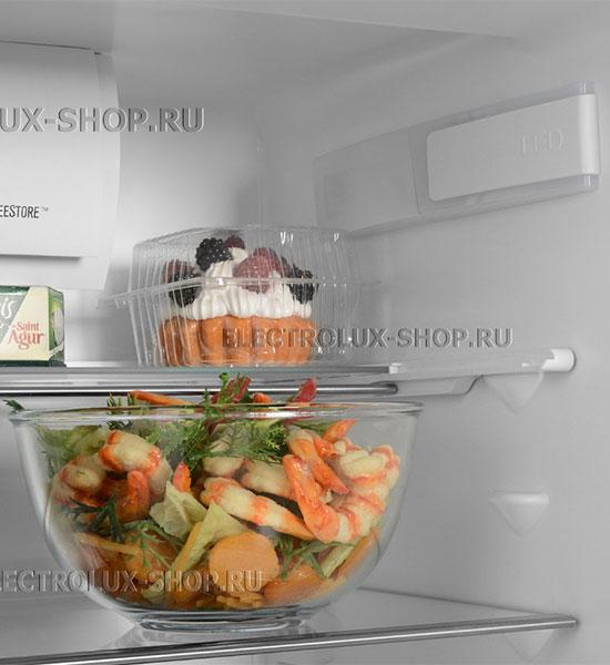 Полки встраиваемого двухкамерного холодильника Electrolux ENN 92853 CW