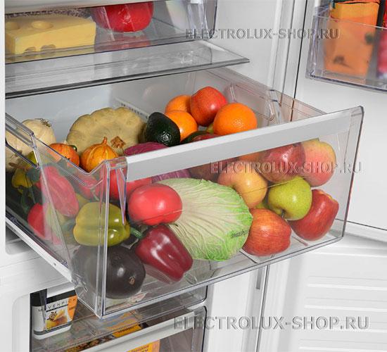 Корзина для фруктов и овощей двухкамерного холодильника Electrolux EN 3454 NOW