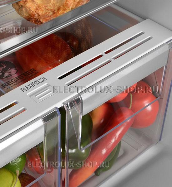 Корзины для овощей и фруктов встраиваемого двухкамерного холодильника Electrolux ENN 92853 CW