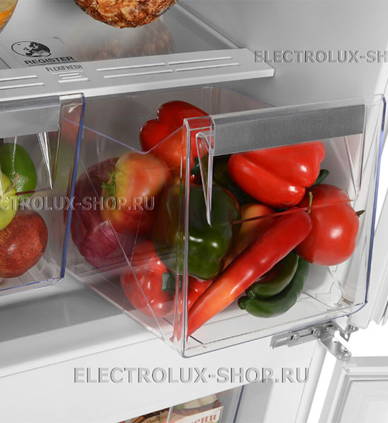 Корзины для фруктов и овощей встраиваемого двухкамерного холодильника Electrolux ENN 92853 CW