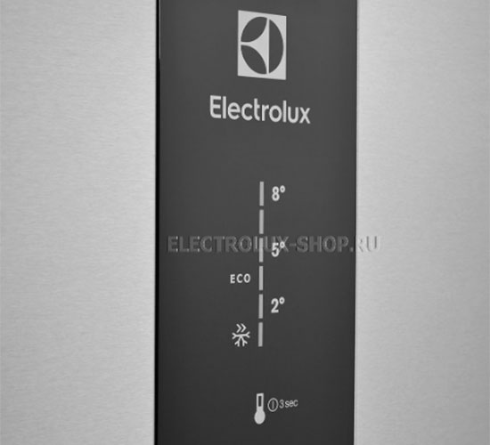 Панель управления двухкамерного холодильника Electrolux EN 3454 NOX