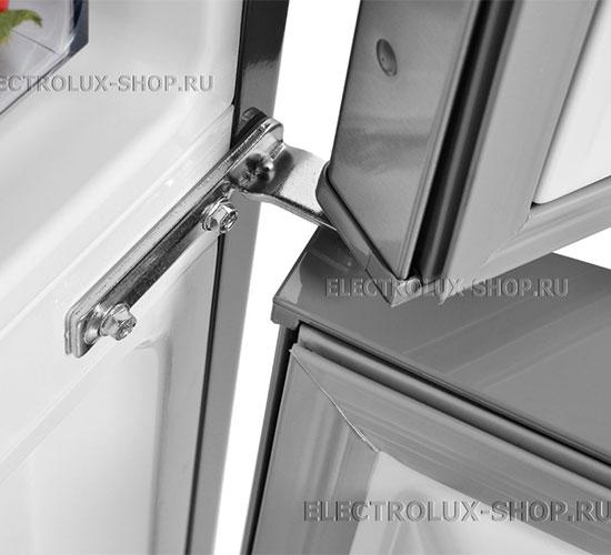 Крепление дверцы двухкамерного холодильника Electrolux EN 3454 NOX