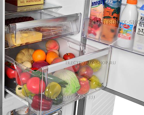 Корзины холодильной камеры двухкамерного холодильника Electrolux EN 3889 MFX CustomFlex