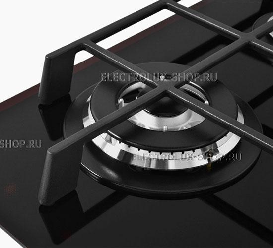 Двухрядная конфорка газовой варочной панели Electrolux EGV 96343 YK