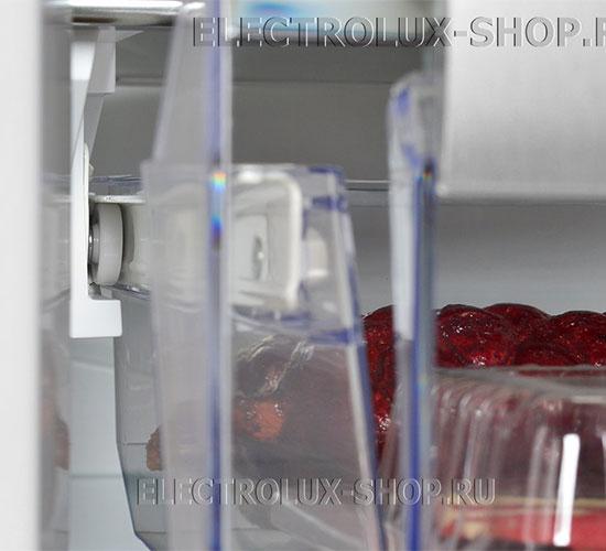 Отделение для деликатных продуктов двухкамерного холодильника Electrolux EN 3454 NOX