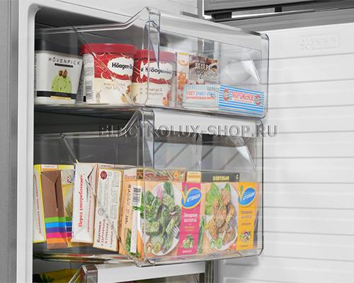 Корзины морозильной камеры двухкамерного холодильника Electrolux EN 3889 MFX CustomFlex