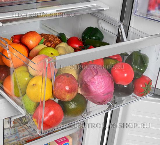Корзина для фруктов и овощей двухкамерного холодильника Electrolux EN 3454 NOX