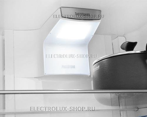 Освещение двухкамерного холодильника Electrolux EN 3889 MFW CustomFlex