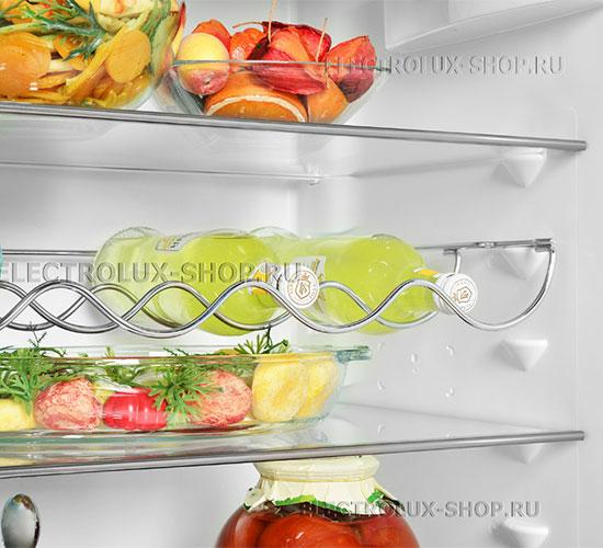 Полки холодильной камеры двухкамерного холодильника Electrolux EN 3452 JOW