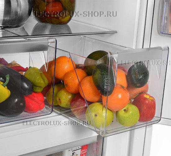 Корзины для фруктов и овощей двухкамерного холодильника Electrolux EN 3452 JOW