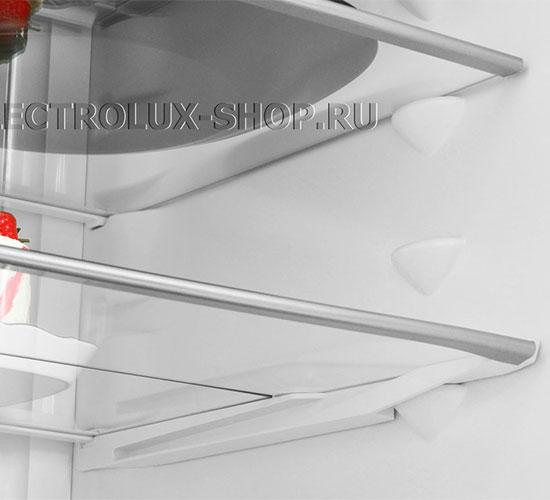 Полки холодильной камеры двухкамерного холодильника Electrolux EN 3889 MFW CustomFlex