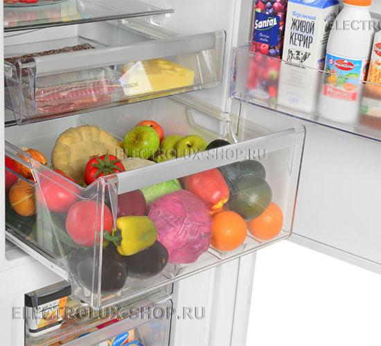 Корзина для фруктов и овощей двухкамерного холодильника Electrolux EN 3889 MFW CustomFlex